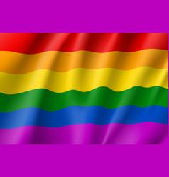 Rainbow lgbt waving flag vector
