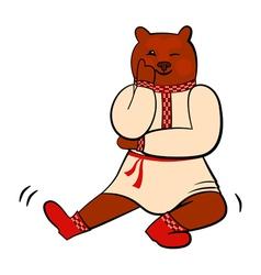 Russian bear vector