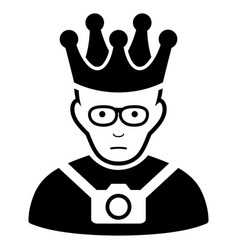 Sad thailand king black icon vector