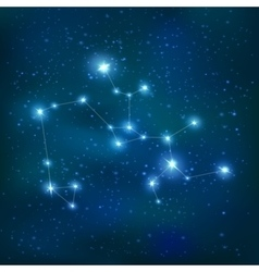 Sagittarius realistic constellation zodiac sign vector