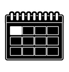 Silhouette calendar information day to organizer vector