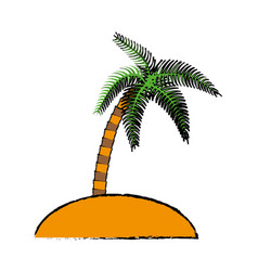tropical palm icon vector image vector image