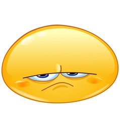 upset emoticon vector image vector image