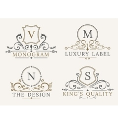 Luxury logo template shield business sign for vector