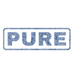 Pure textile stamp vector