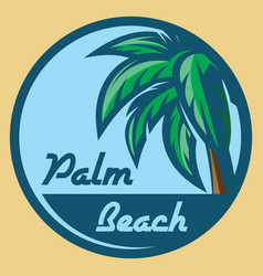 template for logo on the theme of tourism with vector image