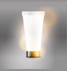 plastic tube advertising template cream bottle vector image