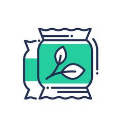 Eco fertilization - modern single line icon vector