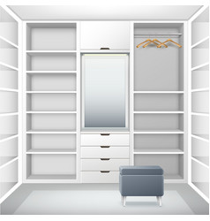 White empty cloakroom vector