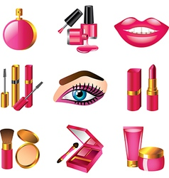 Icons cosmetics vector