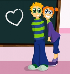 school characters vector image