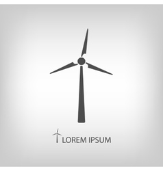 Grey wind turbine vector