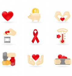 Donation and charity icons vector