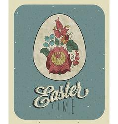 Vintage easter background design vector image