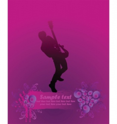 Rock guitarist poster vector