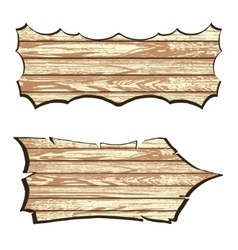 Set of wooden planks vector