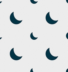 Moon icon sign seamless pattern with geometric vector