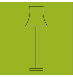 Icon of lamps modern outline style vector