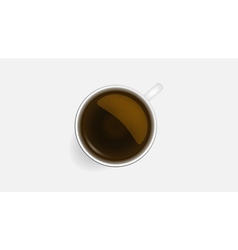 A cup of black coffeeRealistic vector image