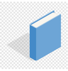 Blue book isometric icon vector