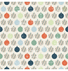 Christmas and Holidays seamless pattern with balls vector image