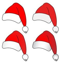 Christmas hats vector