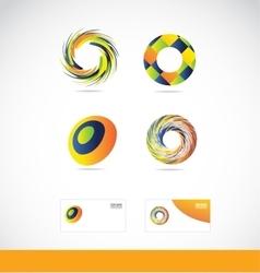 Circle swirl logo vector image vector image