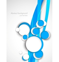 Circles on blue waves vector image