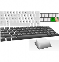 computer keys and keyboard vector image