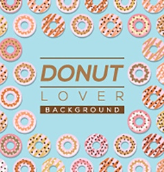 Donut Lover Background vector image