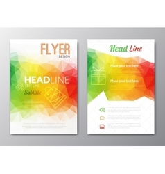 Flyer template Cover Magazine Brochure template vector image vector image