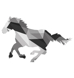 Geometric texture horse silhouette icon vector