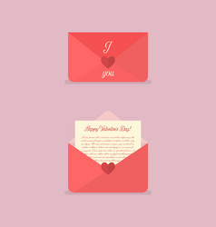 happy valentines day love letter vector image vector image