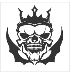 King skull wearing crown vector