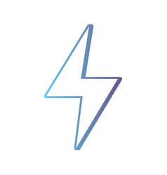 line hazard electric energy symbol vector image vector image