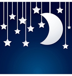 moon and star paper vector image vector image