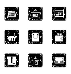 Purchase icons set grunge style vector