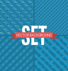 Set of chaquered backgrounds vector image vector image