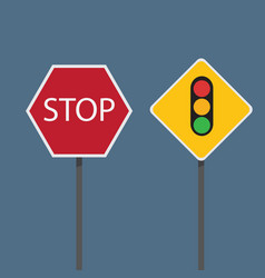Stop and traffic signs vector