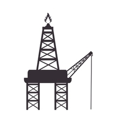 tower flame fire industry vector image