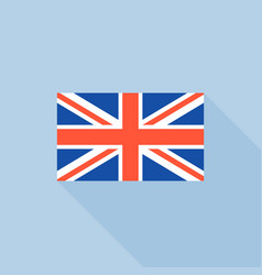 Uk flat icon flat design vector