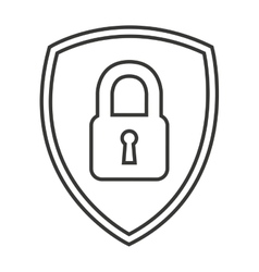Safe secure padlock security isolated icon vector