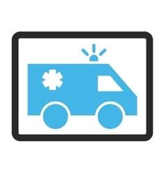 Emergency car framed icon vector