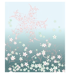 Summer flowers pattern composition vector