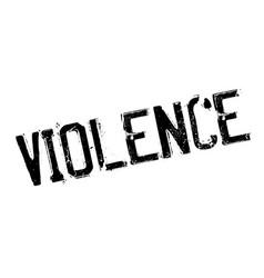Violence rubber stamp vector