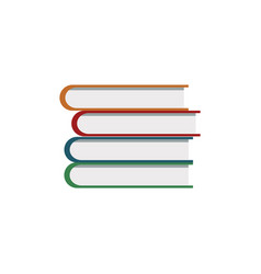 Pile book library learning vector