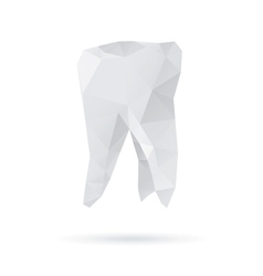 Tooth abstract isolated on a white backgrounds vector