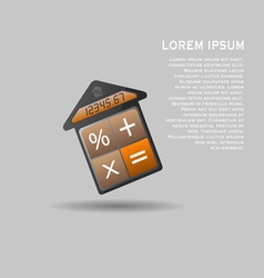Unusual mortgage calculator icon vector
