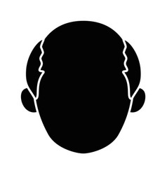Isolated old man face vector