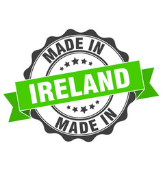 Made in ireland round seal vector